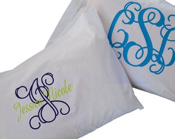 CLEARENCE -  Monogram Pillow Cases