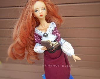 Girl Autumn, handmade doll author's doll, without repeats, in a single copy