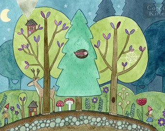 Forest Neighborhood Art Print