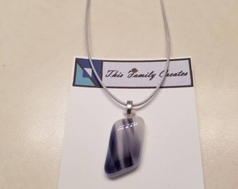Beautiful Hand Blown Hand Cut Glass Pendant. Perfect for Mothers Day