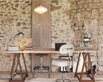 Trestles table with industrial look | Trestle table with industrial look