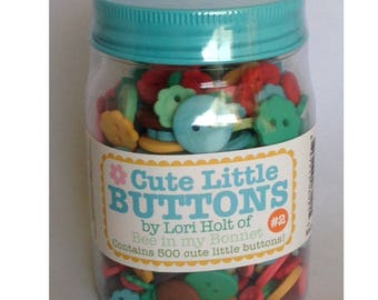 Cute Little Buttons Jar #2 500 buttons by Lori Holt for Riley Blake Designs