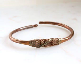 Vintage Copper Bangle Bracelet