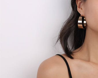 Rose Gold Hoop Earrings - Boho Hoops - Statement Hoops - Statement Earrings - Boho Chic - Gift for Her - Hoop Earrings