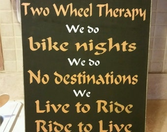 Harley Davidson wood painted sign