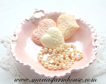 OPALESCENT Dish, Handmade Pottery, Soft Pink, Vanity Bowl/Dish, Tea Party, Bon Bon Dish - 1963