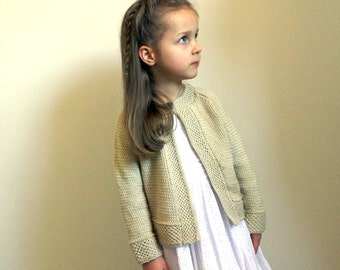 KNITTING PATTERN-Baby - Girls textured jacket with detailed borders and raglan sleeves - P045