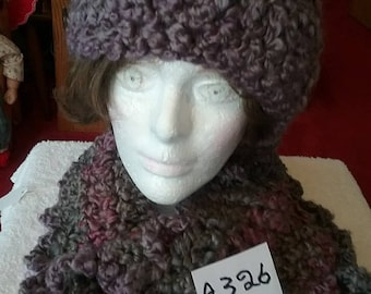 Grey Scarf and Hat Set