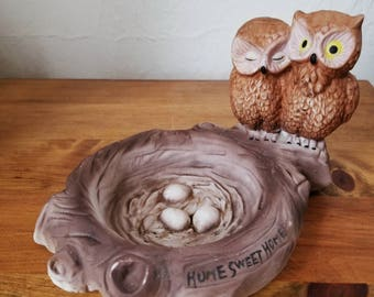 Vintage Owl Ashtray