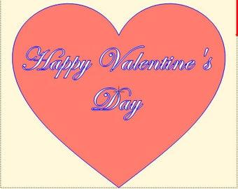 Happy Valentine's Day in Heart