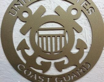 United States Coast Guard metal art