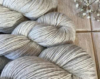 4 ply Natural Baby Grey Alpaca, Silk & Cashmere (70/20/10)