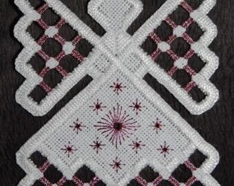 Hardanger Angel Ornament - Pink Amethyst