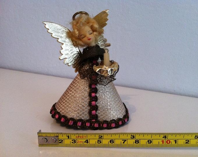 Vintage German Angel Christmas Tree Topper