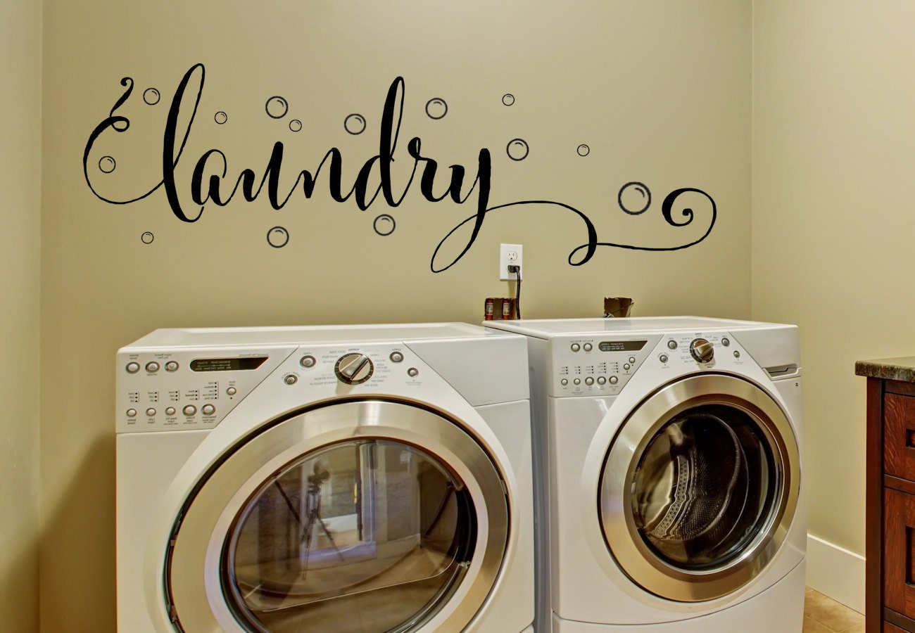 Laundry Decal Wall Decor Alluring Laundry Room Decor Laundry Wall Decal Wall Decal Laundry Design Inspiration