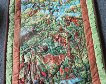 Rain Forest Quilted Blanket/Wall Hanging