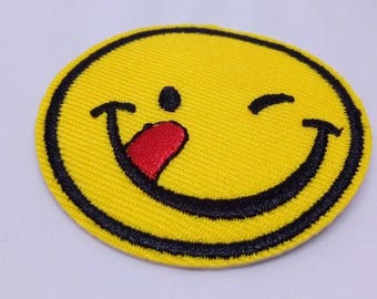 Emoji YUM Tasty Sew/Iron on Patch Embroidery