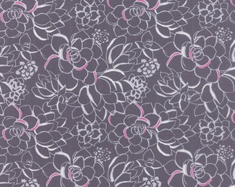 Canyon - Succulent in Moonlight by Kate Spain for Moda Fabrics- Last Yard