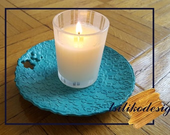 Light Blue Decorative Plate