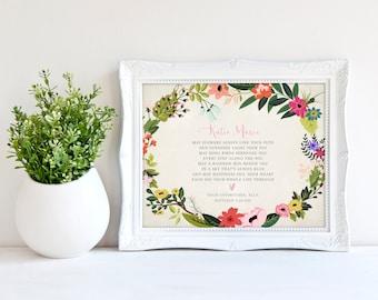 GODDAUGHTER gift - Gift for Goddaughter - Personalized gift for Goddaughter - Gift from Godmother, Gift From Godparents Keepsake  print 8x10