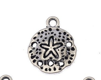 Set of 10 Starfish Sand Dollar  Charms 18X14mm Approx /9Z