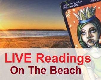 LIVE Tarot Readings On The Beach - HealingTarotNet on Tour