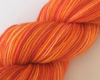 Orange me Glad - hand dyed yarn 3.5 oz 437 yds