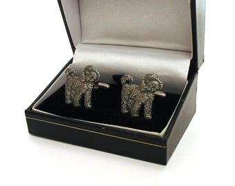 Cockapoo Dog Design Pewter Cuff-links Gift Boxed Cockapoo Owner Gift