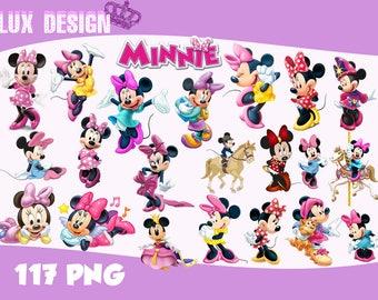 117 Minnie Mouse ClipArt- PNG Images Digital, Clip Art, Instant Download, Graphics transparent background Scrapbook