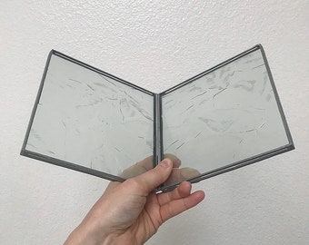 Glass Square Crop Metal Frame