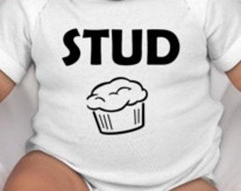 Stud Muffin baby tee - Baby boy gift - newborn baby gift - newborn boy - boy baby shower gifts - new baby gift ideas - newborn baby gifts