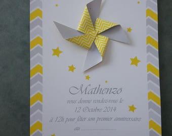 "lot of 10 birthday invitations ""theme stars"""