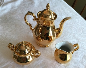 RW Bavaria Small Gold Coffee/Tea Set : bavaria gold plated tea set - pezcame.com
