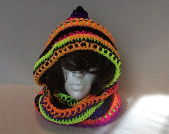 Bright Lights Hipster Hood Scarf