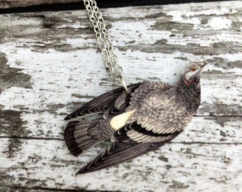 Rock Dove Necklace, Pigeon Necklace, Bird Jewellery, Bird Jewelry, Garden Bird, Bird Lover Gift, British Bird