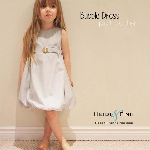 Blase Kleid und Tutorial 6Y-12Y DIY Pdf Muster leicht Sew