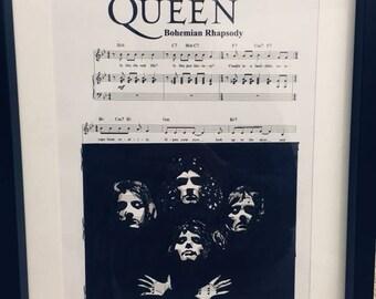 Queen Bohemian Rhapsody sheet music art