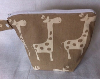 Small Wet Bag in Giraffe