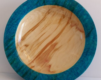 Dyed Wood platter or bowl