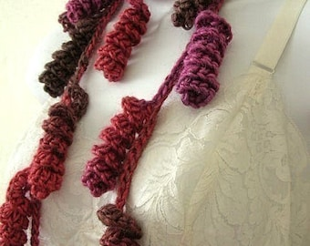 Curly Q Lariat Scarf Crochet Pattern PDF - permission to sell what you make