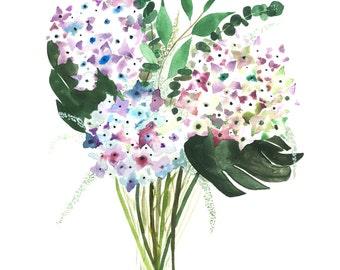 Hydrangea Bouquet print