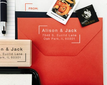 Custom Address Stamp, Self Ink Return Address Stamp, Custom Address Stamps, Self Inking Personalized Stamps, Unique Personal Gifts, Simple