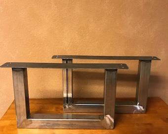 U Shape metal table legs, end table, coffee table, dining table legs, bench legs, handmade table legs, custom table base