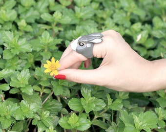 August , Grey Rabbit Ring