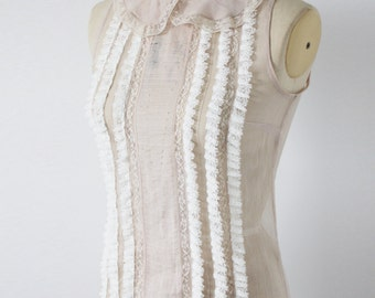 Vintage dusty pink sleevless shirt