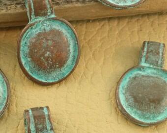 Copper patina pendants