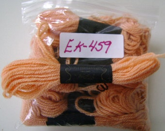 Yarn, Paragon, 100% Wool Crewel Needlepoint, Color #643 Peach, 8.8 Yard Skeins
