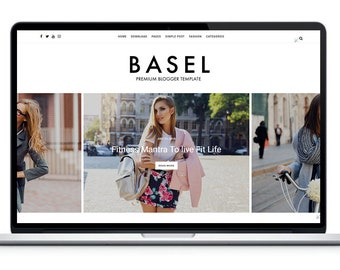 Blogger Template Responsive - Basel Blog Theme - Premade Blogger Template