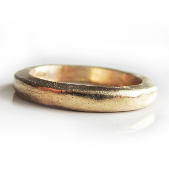 Thick Gold wedding ring in solid 22 Karat yellow gold 22ct