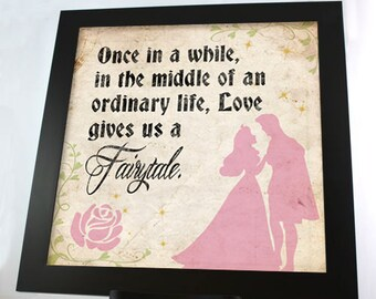 Love Gives Us A Fairytale Aurora 12 x 12 PRINT - DIGITAL FILE